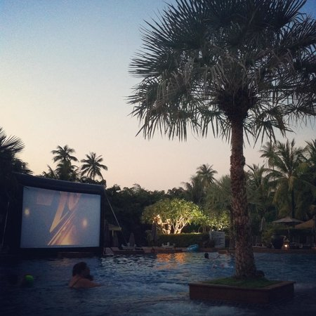 Marriott's Mai Khao Beach - Phuket: Wednesday night is family movie night on the big screen!