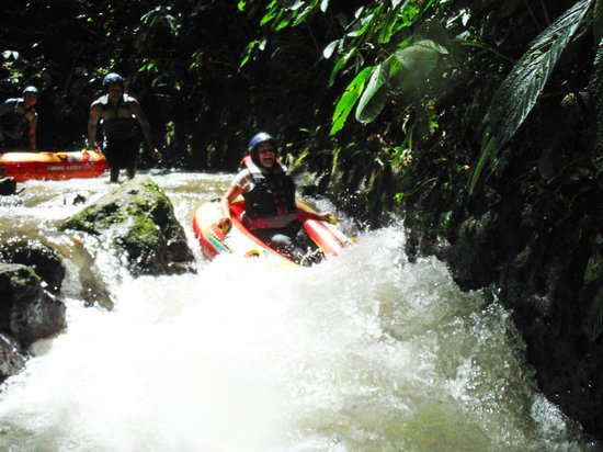Bali Quad Canyon Tubing: A mini drop.