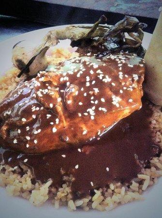 PUEBLO Cocina de Mexico: Chicken with House Made Chipotle Chile Mole Sauce