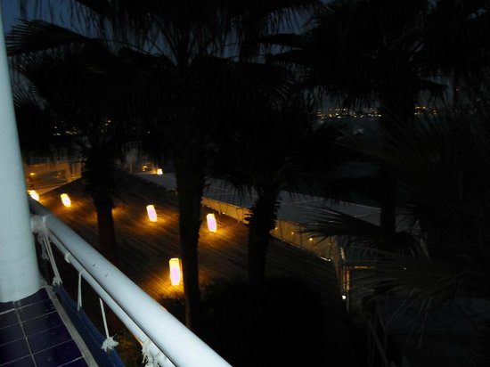 Lido Sharm Hotel: Room view, the left side at night