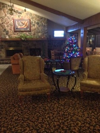 AmericInn Hotel & Suites Eau Claire: Such an inviting lobby. December 2013