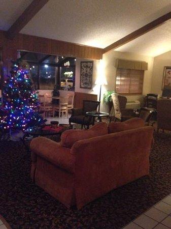 AmericInn Hotel & Suites Eau Claire: The cozy lobby.