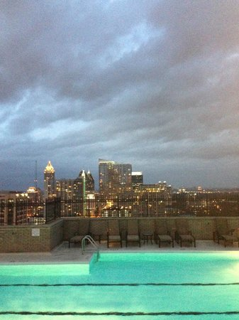 The Georgian Terrace Hotel: Awesome/surreal view from the rooftop of ATL skyline