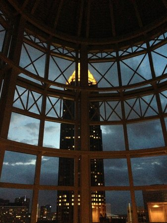 The Georgian Terrace Hotel: Cool view of the ATL skyline from inside the hotel