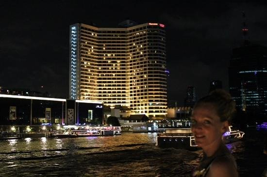 Royal Orchid Sheraton Hotel & Towers: Royal Orchid by night from the river boat