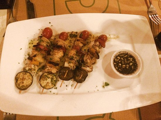 Il Forno Siem Reap: seafood skewers