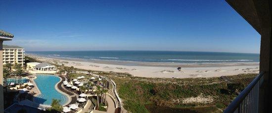 Omni Amelia Island Plantation Resort : Beach View from 6th Floor Hotel room - Sunrise Wing