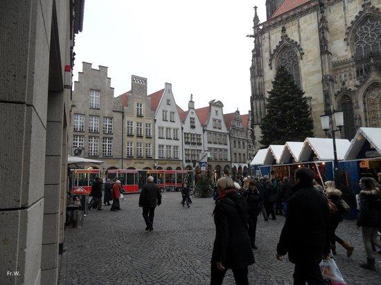 Prinzipalmarkt: Het was er aardig druk .