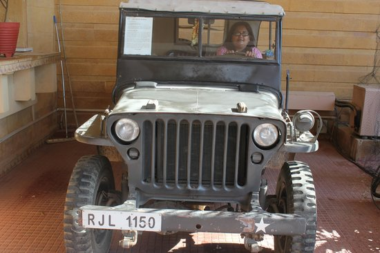 Fort Rajwada : The Willys jeep taken from Shillong