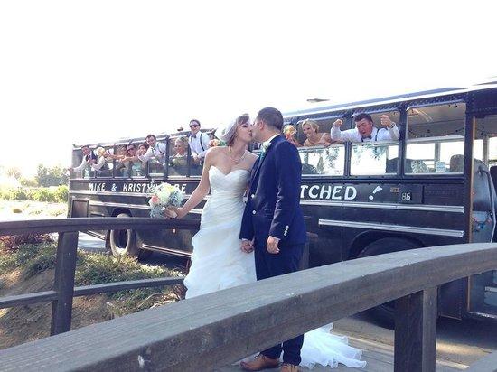 Jump On The School Bus Wedding Transportation