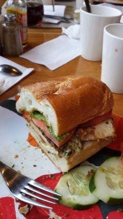 Sunfrost Farm: Amazing fresh mozzarella and chicken cutlet sandwich!