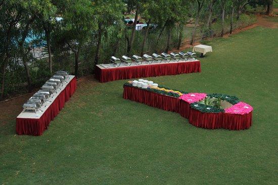Fortune Pandiyan Hotel : lawn