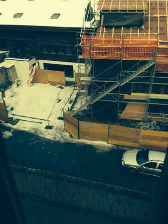 Hotel Landhaus: SURROUNDED BY CONSTRUCTION