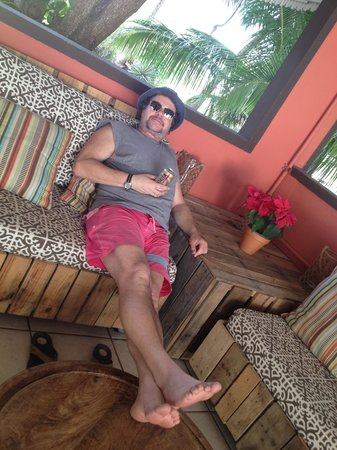 La Copa Llena at The Black Eagle: relaxing in the shady cool bar