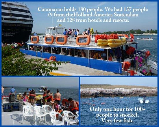 Majahuitas, Mexico: A big catamaran