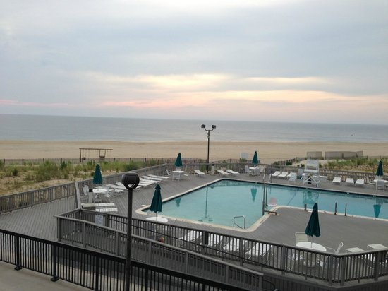 Sea Colony Resort: View of beach and pool from Chesapeake 2nd floor room.