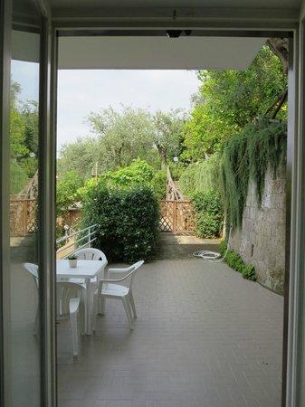 Villa Oriana Relais: Looking out onto our patio