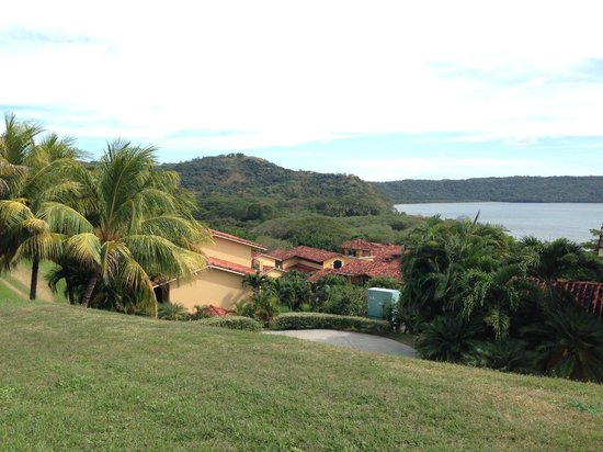 Allegro Papagayo: view from the lobby balcony of Snake Bay and hotel