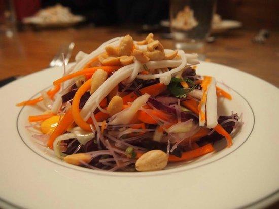 Tignes Cuisine : Crab and Nut salad courtesy of Josephine
