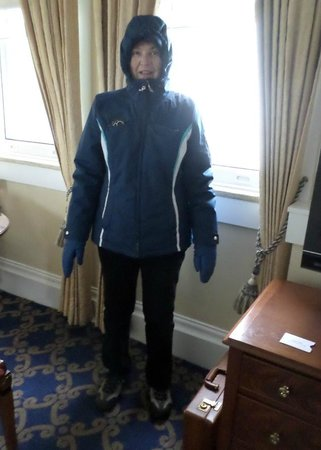 Marriott Vacation Club Pulse at Custom House, Boston: Me - ready to walk in the cold and snow!!