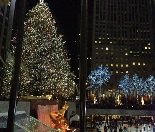 The Rink at Rockefeller Center : View of the rink from the street level