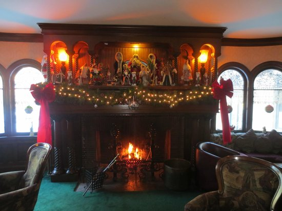 The Stonehurst Manor: Library Fireplace