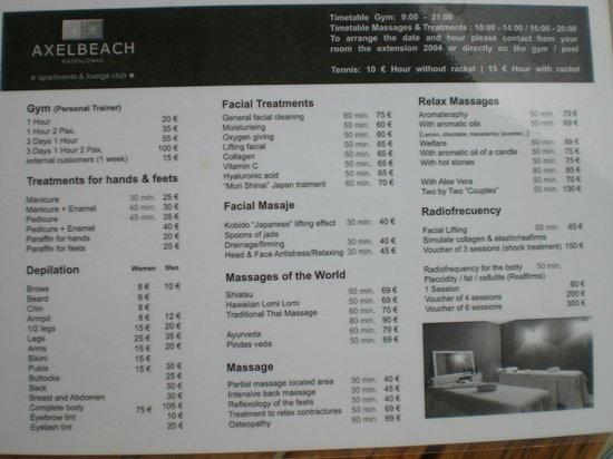 AxelBeach Maspalomas: Hotelservice
