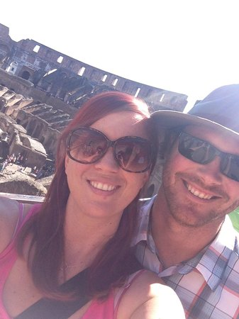 Antiqua Tours: Wine, Cultural and Culinary Experiences: me and Nate at the Colosseum