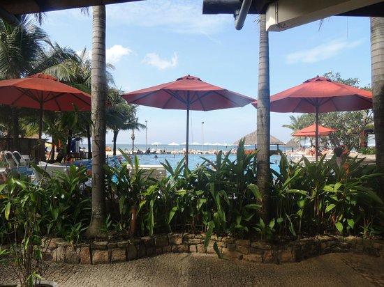 Eden Resort: view from breakfast