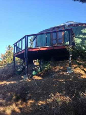 Treebones Resort: Yurt 13 - Swings under deck