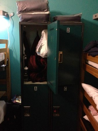 Hostelling International - New York: Large Lockers in the rooms -- bring a lock
