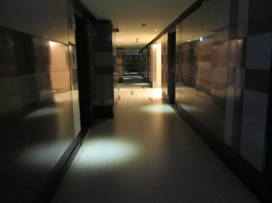 KT Star : our hallway, some other floors are brighter but ours is dark