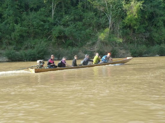 Tiger Trail Outdoor Adventures: Long boat travelling back