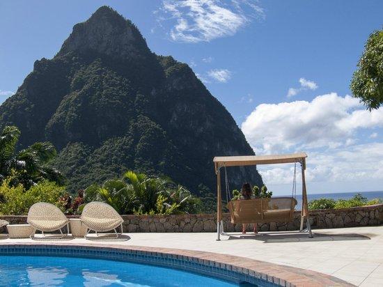 Stonefield Villa Resort: Blick auf den Piton