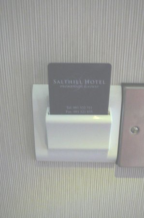 The Salthill Hotel: Need room key to keep light on