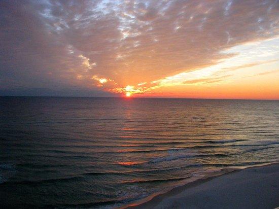 Beach at Panama City : Sunset on the gulf