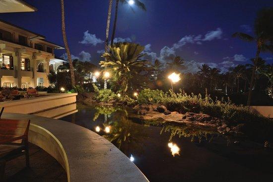 Grand Hyatt Kauai Resort & Spa : Full moon, hotel garden