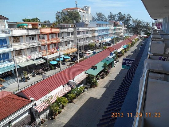 Cha Am My House: Utsikt från balkongen