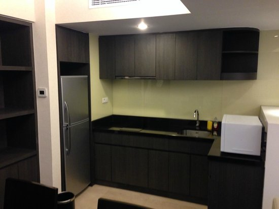 Kitchen at apartment suite picture of pullman jakarta indonesia jakarta tripadvisor - Pullman kitchen design ...