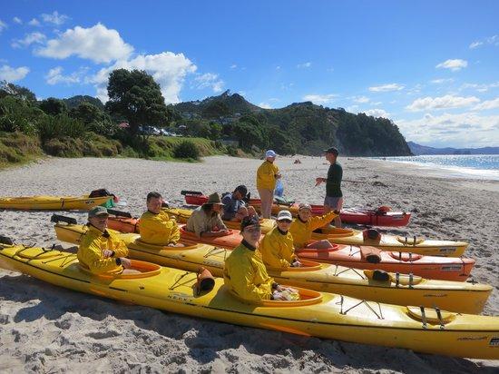 Hahei Holiday Resort: Из номера на пляж и в лодку