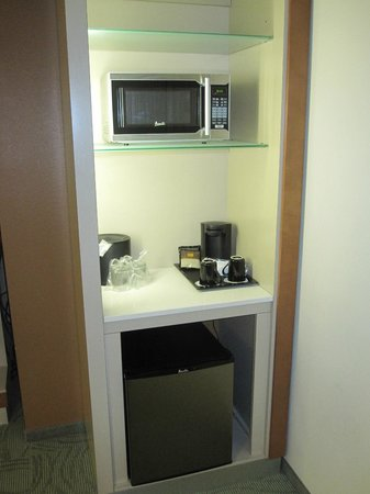 SpringHill Suites Las Vegas Convention Center: Fridge & Microwave