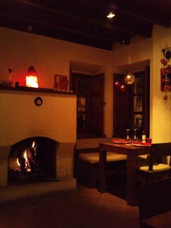 La Pasion Restaurant : fireplace