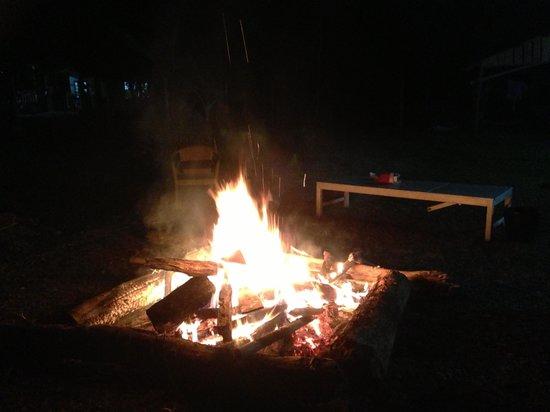 Christmas bonfire at Phongsavanh Resort
