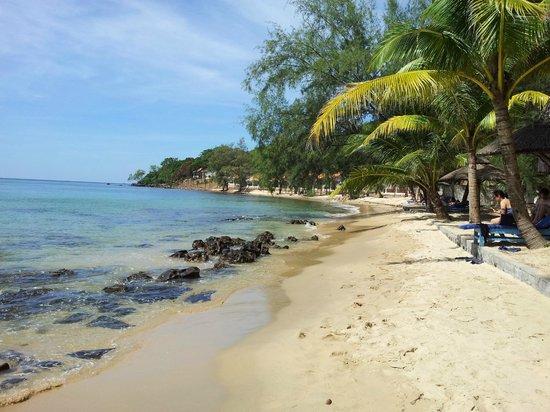 Ancarine Beach Resort: Strandabschnitt am Resort