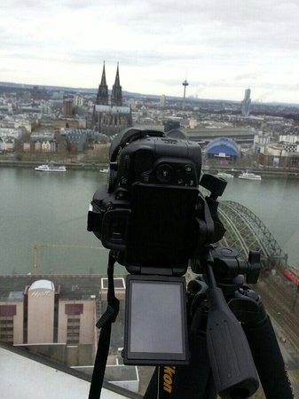 KölnTriangle: Ausblick Triangle Richtung Dom