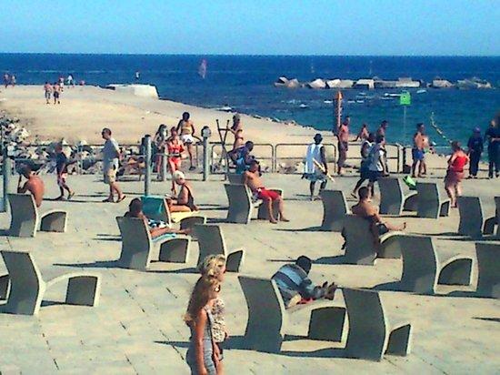 Trevliga Solstolar Att Vila Och Ta På Folklivet Picture Of Nova Mar Bella Beach Visit Barcelona
