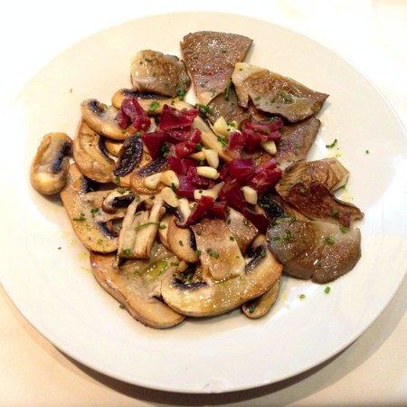 Restaurante Castilla: Setas, champigñon e jamón.