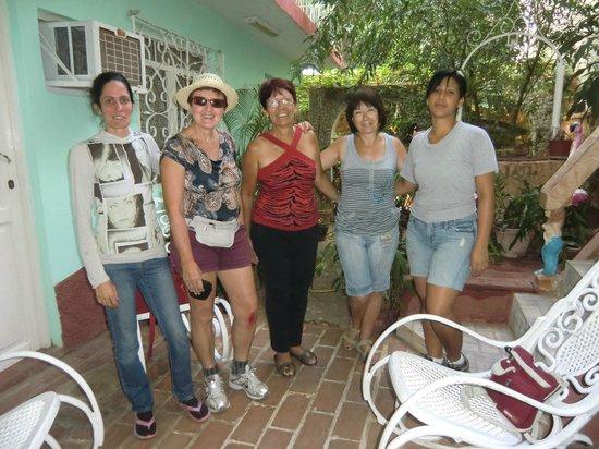 Hostal Oasis Trinidad Cuba : des amies trop loin!