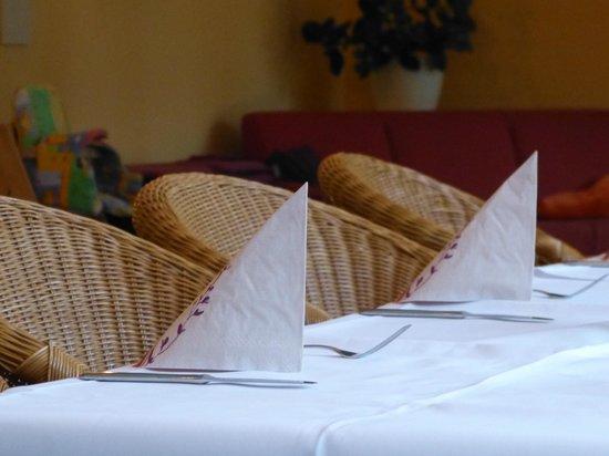 Waldhotel Vogtland: gedeckter Tisch