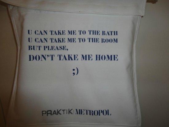 Praktik Metropol : Bolsita para guardar cosas en el wc